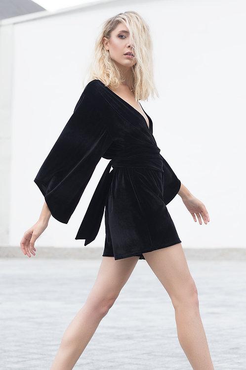 Bareback Velvet Jumpsuit
