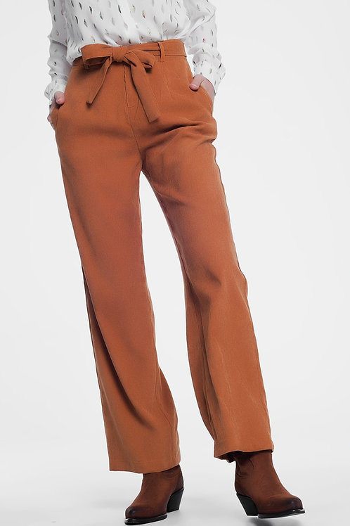 High Waisted Camel Coloured Pants
