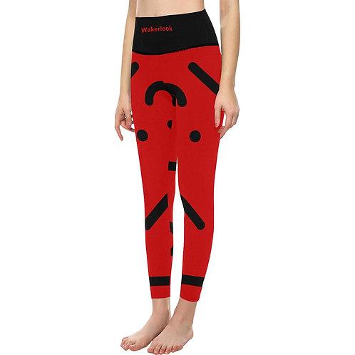 Women's Wakerlook High-Waisted Red Leggings