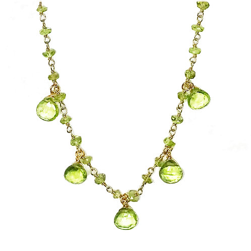 Peridot Droplet Vermeil Necklace