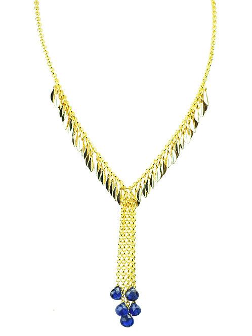 Blue Sapphire Droplet Necklace