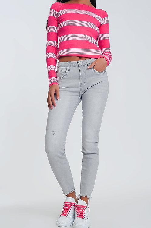 Skinny Jeans in Grey