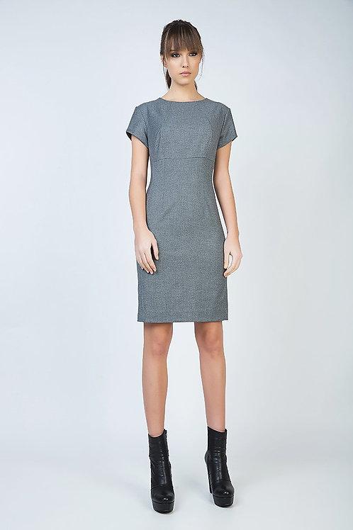 Short Sleeve Straight Tailored Dress