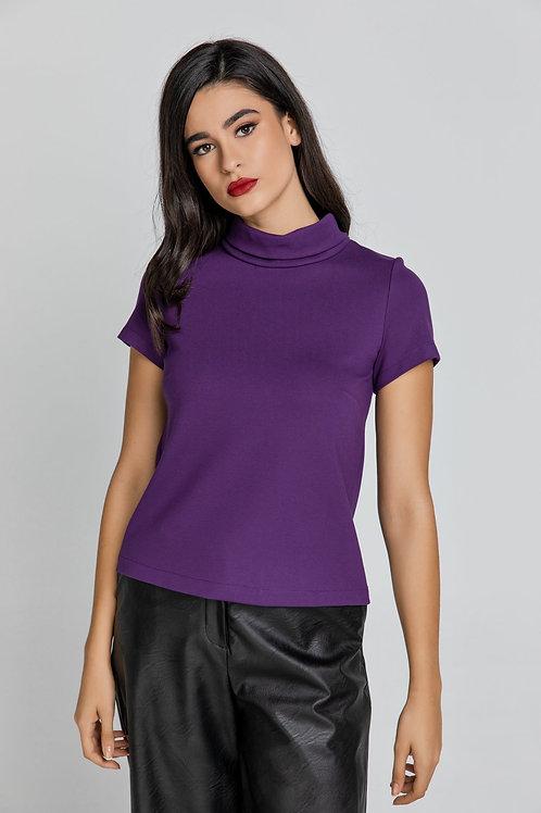 Short Sleeve Mauve Top