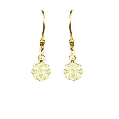 Lemon Citrine Vermeil Drop Earrings