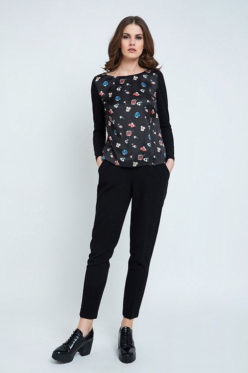 Black Trousers With Tie Detail