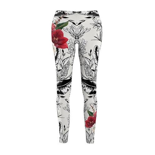 "Women's leggings with print ""Soiree at dusk"""