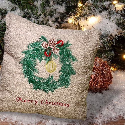 Have a beautiful Christmas with this cozy embroidered pillowcase