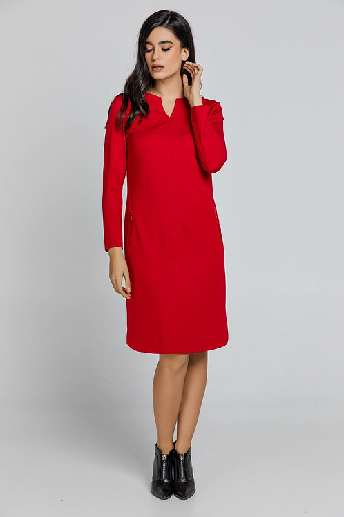 Red Sack Dress by Conquista
