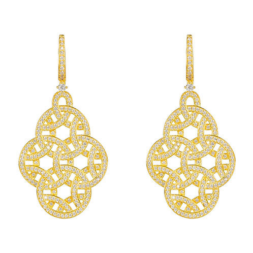 Celtic Knot Aoife Drop Earring Gold
