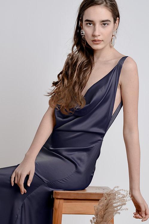 Royal Blue Bareback Dress - Bastet Noir
