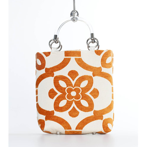 Stencil Orange Small Tote