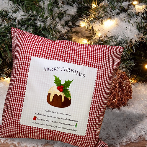 Christmas pillow with print