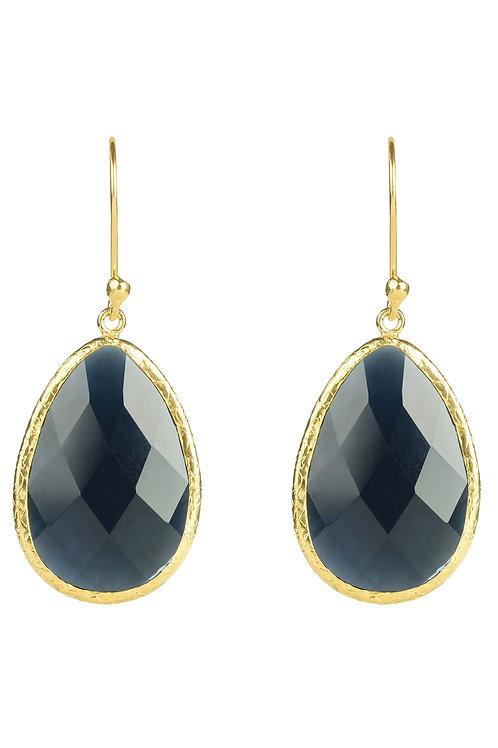Single Drop Earring Sapphire Hydro Gold