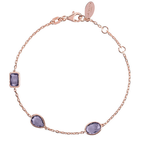 Venice Bracelet Rosegold Amethyst