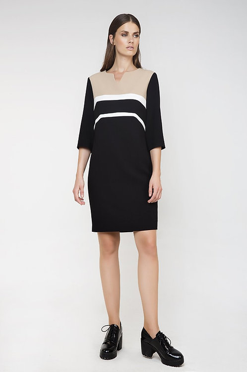Straight Panel Detail Dress