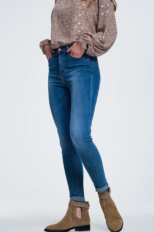 Skinny Jeans in Light Denim With Light Wash