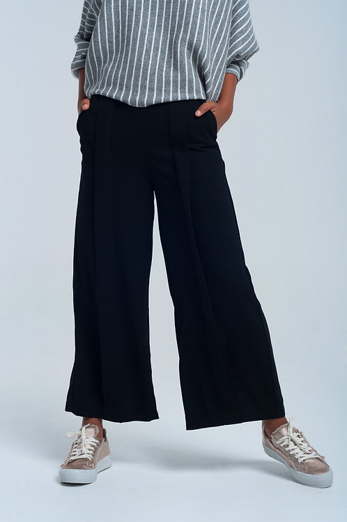 Black Pants Wide Leg
