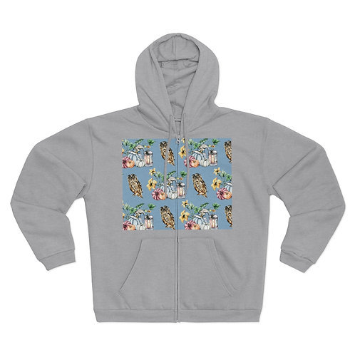 Womens Hooded Zip Sweatshirt
