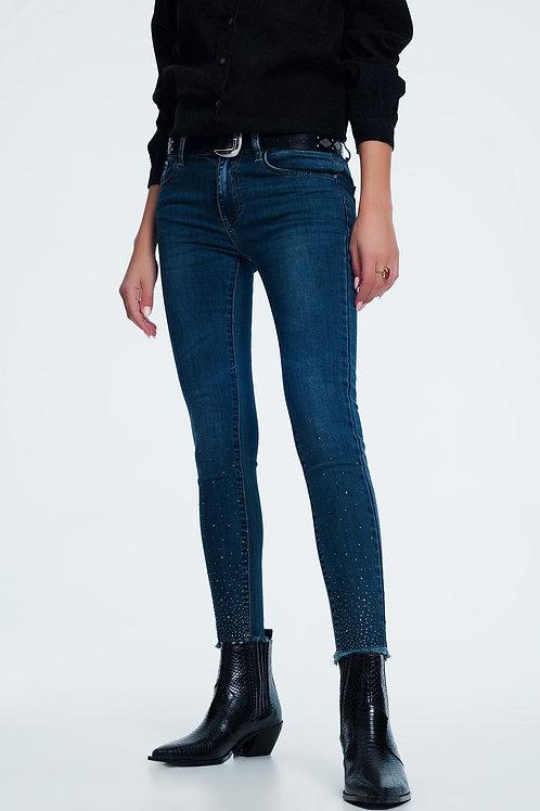Slim Jean With Rhinestone Detail