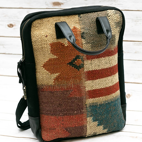 Stitched Kilim Boho Backpack