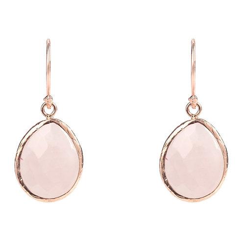 Petite Drop Earring Rose Quartz Rosegold
