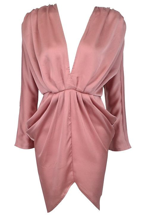 Pink Plunge Dress