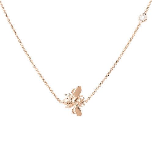 Queen Bee Necklace Rosegold
