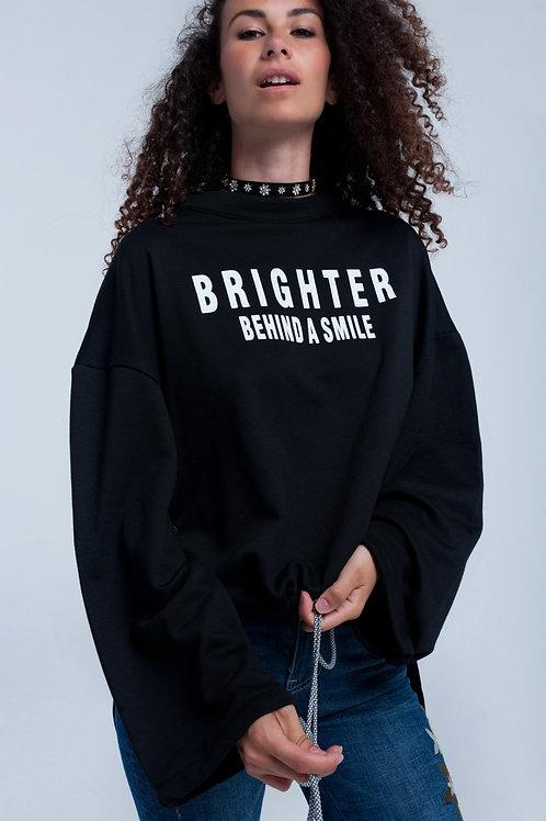 Black Asymmetric Sweater