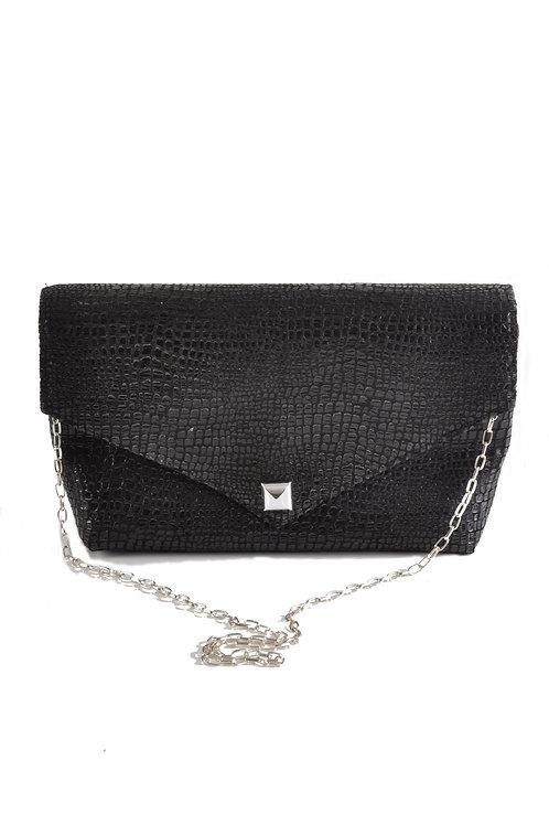 Boa Black Envelope Clutch