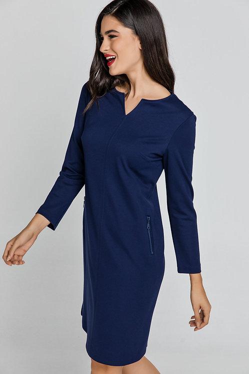 Blue Sack Dress by Conquista