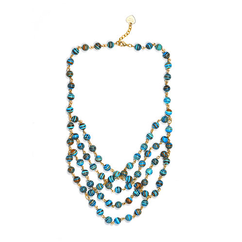 Stripe Turquoise Statement Necklace