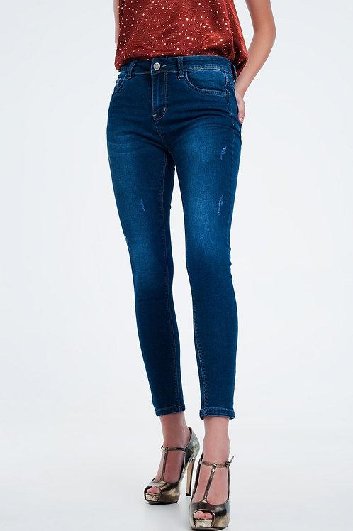 High Rise Premium Jeans in Dark Wash Blue