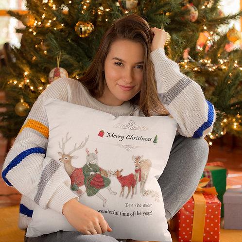 Christmas pillow with print
