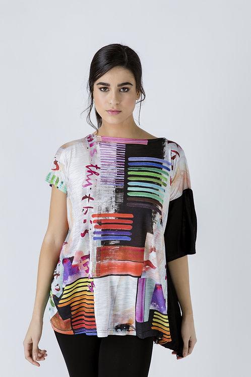 Asymmetric Summer Print Tunic
