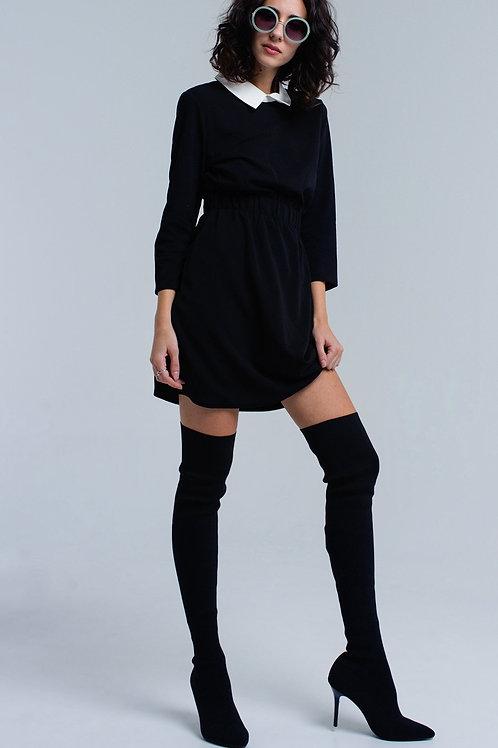 Black Dress With Elastic Waist