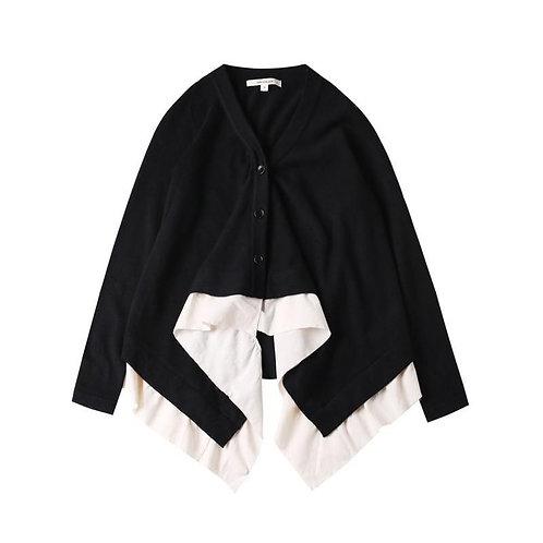 Toshihiro V-Collar Layered Button Sweater