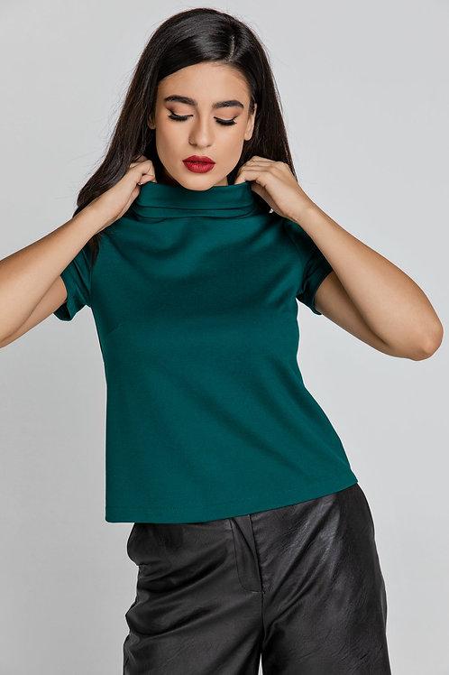 Short Sleeve Dark Green Top by Conquista