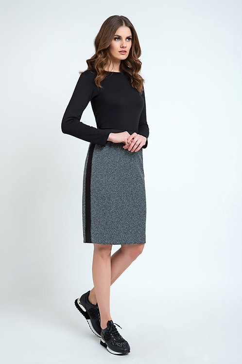 Pencil Skirt With Side Panels