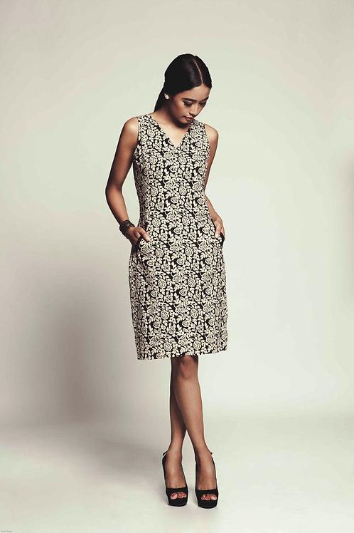 Xiara Hand Block Printed Cotton Dress