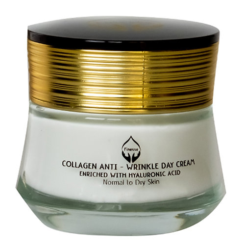Dead Sea Anti - Wrinkle Collagen Day Cream - Enriched With Hyaluronic Acid