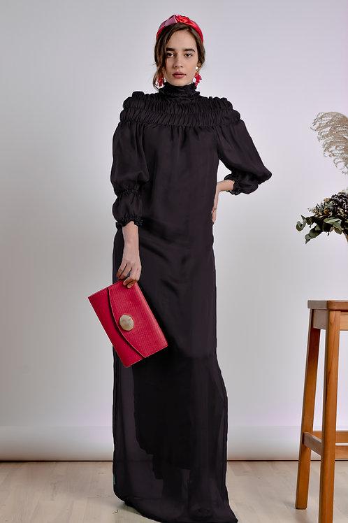 Black Turtleneck Dress - Bastet Noir