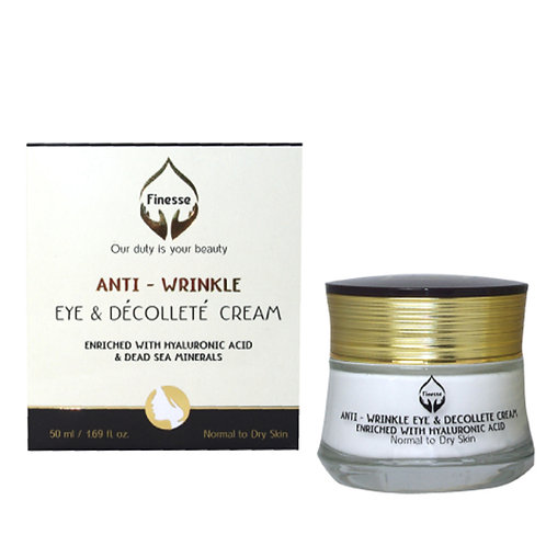 Dead Sea Anti - Wrinkle Eye & Décolleté Cream - Enriched With Hyaluronic Acid