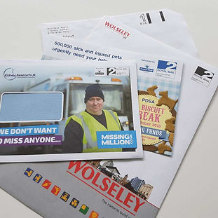 Printed mailing and reply envelopes