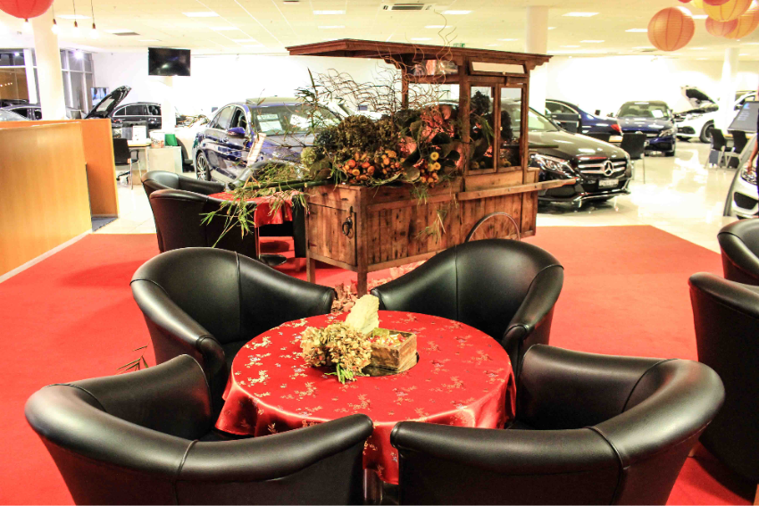 Chinese New Year Mercedes Dealership Display