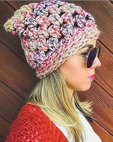 The Boho Slouch Beanie Crochet PATTERN