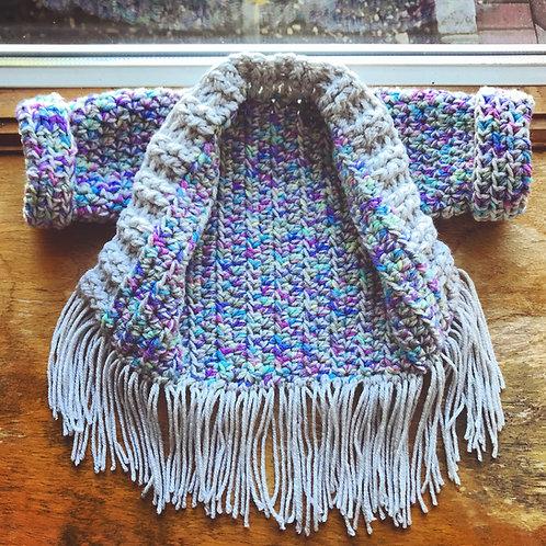 The Emma Boho Fringe Sweater Crochet PATTERN