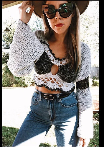 The Belle Fleur Sweater CROCHET PATTERN