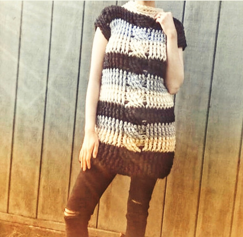 The Oversized Braid Sweater Crochet Pattern