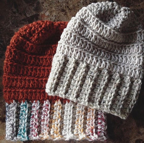 The Libra Slouch Beanie Crochet PATTERN